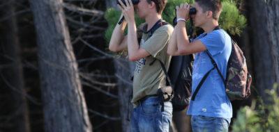 Ruben en Rens aan het vogelen